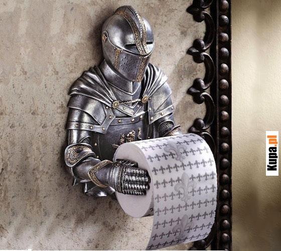 Rycerz - Piękny uchwyt na papier toaletowy