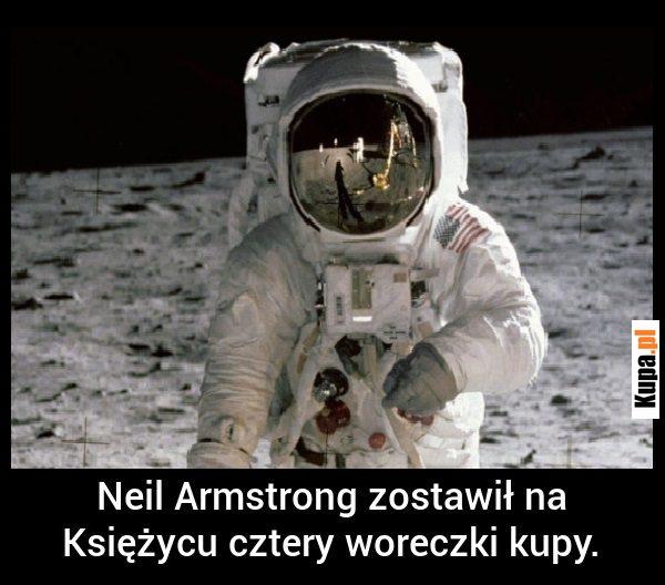 Neil Armstrong zostawił na Księżycu 4 woreczki kupy