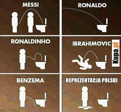 Piłkarze w toalecie