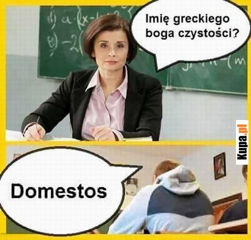 Imię greckiego boga czystości? - Domestos