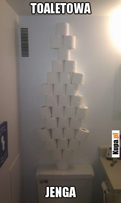 Toaletowa Jenga