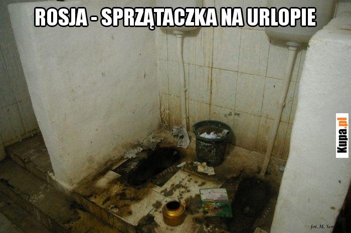 Rosja - sprzątaczka na urlopie