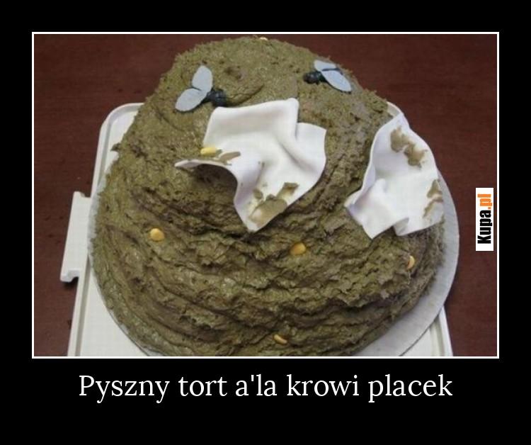 Pyszny tort a'la krowi placek